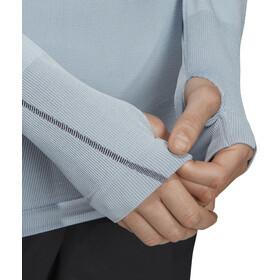 adidas TERREX Knit Koszulka rowerowa z długim rękawem Kobiety, glossy blue